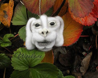 Falcor pendant/needle felted Falcor/felted Falcor pendant/Falcor necklace/Falcor jewellery/wool jewelry/neverending story pendant/luckdragon