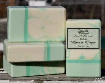Lime and Ginger Handmade Cold Process Soap