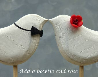 Add a Rose and  Bowtie to your Wedding Cake Topper Order