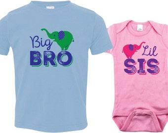Boys big bro shirt, big brother shirt, little sister shirt, sibling shirts, pregnancy announcement shirt, baby announcement tshirt