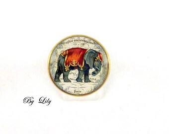 """Ring """"Indian Elephant"""" retro image cabochon!"""