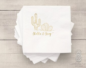 Cactus Desert |  Customizable Wedding Napkins