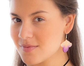 Hanami Orchid Petal Earrings.