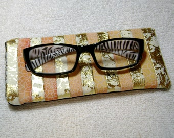 Fabric Eyeglass Case - Quilted Eyeglass Case - Glass Case - Batik Fabric Case - Sunglass - Handmade Case - EGC9