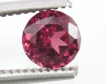 1.4 CTS rubellite pink  tourmaline round cut, mozambique