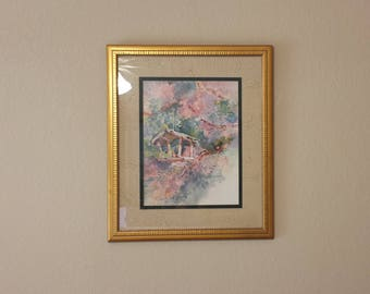 Rare Dawna Barton Spring Hideaway II Watercolor 1995 Signed (Shipping is Not Included)