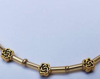 Eyeglass Chain, Eye Glasses Chain, Gold Flowers, Necklace, Glasses Strap, Tibetan Silver Sunglasses Chain, Sun Glasses Holder