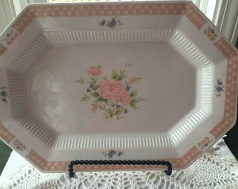 Nikko Cameo  Rose  Platter Classic  Collection