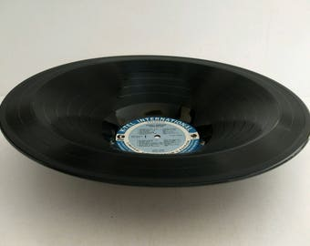 "Donny Osmond Smooth Record Bowl Hand Made from Upcycled Vinyl Record ""Superstar"""