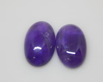 100 % Natural Purple Amethyst Cabochon FOR jewelry 15x23 MM round 2 PC