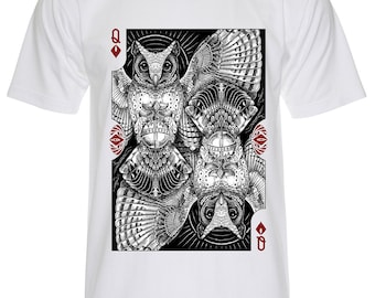 Queen of Diamond Playing Cards T-Shirt