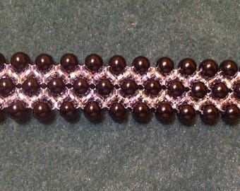 Design sheet for a pearl and seed bead bracelet