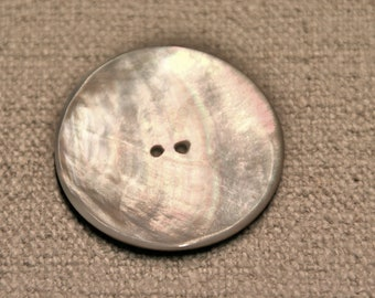 3 vintage buttons made of mother of pearl 50 mm