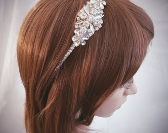 Wedding Headband, Bridal Headpiece, Crystal Headband, Flower Girl, Hair Jewelry, Bridesmaid, Hair Accessory