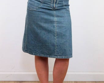 STRENESSE Gabriele Strehle Vintage Denim Midi Skirt