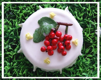 Cover of cold porcelain - gooseberry jam jar