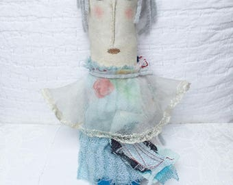 Primitive Folderol DOLL - Painted Prim Folderol - Womens Gift - Primitive Folk Art - Gift for Her - Soft Sculpture - Prim Art
