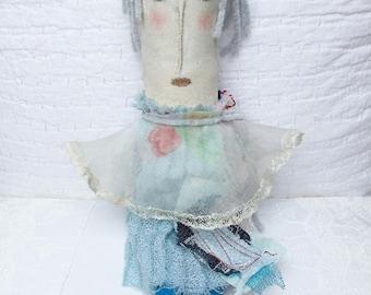Primitive Folderol Puppe - gemalt Prim Folderol - Womens - Primitive Volkskunst - Geschenk für sie - weiche Skulptur - Prim Kunst
