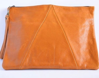Desert Oversized Slouchy Leather Clutch Purse