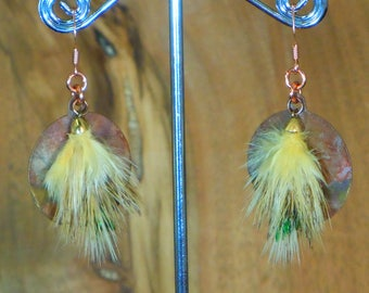 E191-Real feather Earring