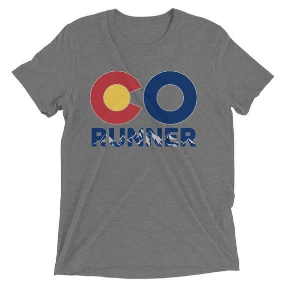 Men's Colorado Run TriBlend T-Shirt - Run Colorado - Men's Short Sleeve Running Shirt