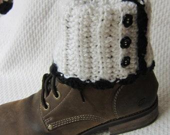 Crochet Boot Cuffs,Boot Cuffs,White Boot Cuffs,Boot Topper,Boot Sleeves,Boot Socks,Teen Fashion,Women's Fashion,Feminine Boot Cuffs,Boho