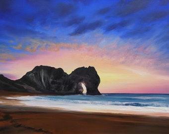 Durdle Door at Sunrise' Signed Ltd Edition Fine Art Print by Rob Parkinson.