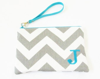 Wristlet Purse - Monogram Makeup Bag - Bridesmaid Gift Bags - Wristlet Wallet - Cosmetic Bag - Wristlet Clutch - Medium