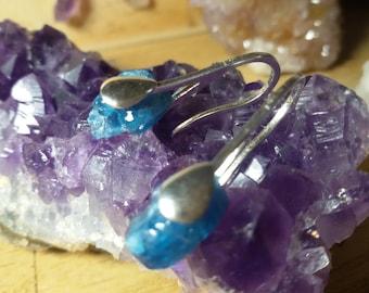 Apatite Silver Earrings