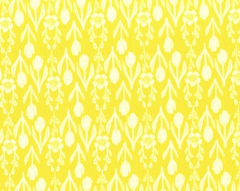 SALE!  Fabric by the yard - Floral Fabric - Fat Quarter Bundle - Yellow Floral Fabric - Quilt Fabric - Tulip Folk - Modern Fabric