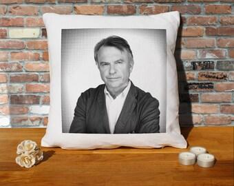 Sam Neill Pillow Cushion - 16x16in - White