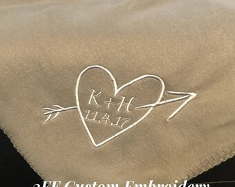 Personalized Wedding or Anniversary Fleece Blanket