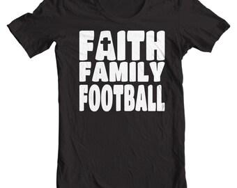 Faith, Family, Football - Christian T-shirt