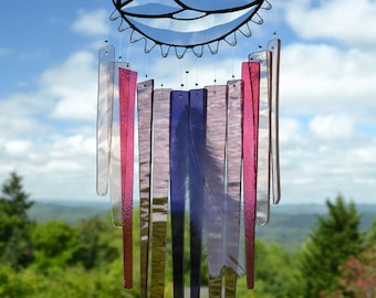 Stained Glass Windchime, Violet