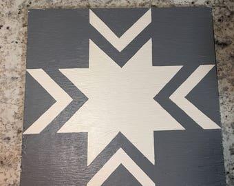 1'x1' Handpainted Barn Quilt