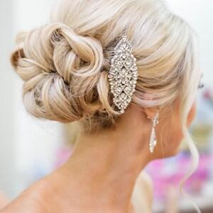 Bridal Hair Comb, Crystal and Pearl Comb, Wedding Hair Comb