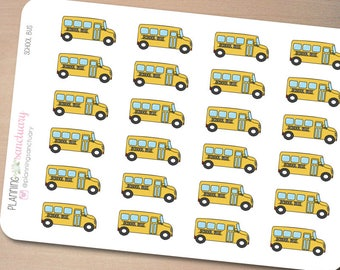 School Bus Planner Stickers Perfect for Erin Condren, Kikki K, Filofax and all other Planners