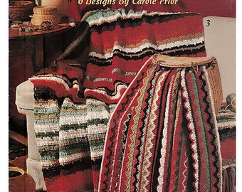 Scrap bag Afghans To Crochet Pattern Book Leisure Arts 2494