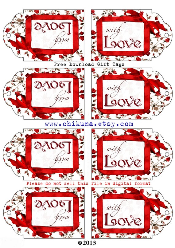 Freebie free printable gift tags with love digital image sheet freebie free printable gift tags with love digital image sheet download tag do not purchase free download print and cut from chikuna on etsy negle Images