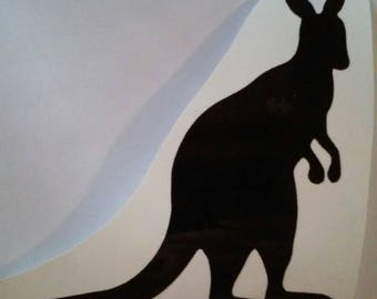 Kangaroo Decal / Kangaroo Window Decal/Kangaroo Sticker/Kangaroo Yeti Cup Decal