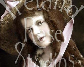 Samantha-Victorian/Edwardian-French Postcard-Digital Image Download