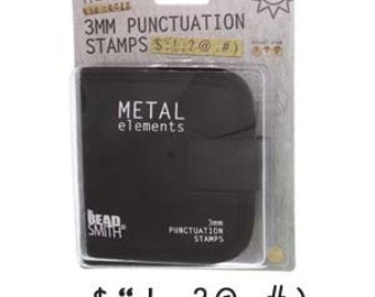 Beadsmith 3mm Punctuation Metal Stamp Set- 9 Piece- Includes Canvas Case- Great For All Metal and Jewelry Design Work- SGLPSPU30