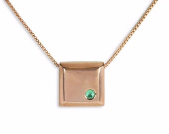 En Vogue! 0.40pts Colombian Emerald & Your Choice Of Metals Necklace