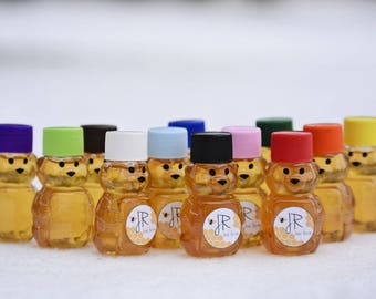 Lot of 100 2oz Mini Honey Bears, Wedding Favor, Baby Shower Favors, Baby Reveal Ideas, Gifts
