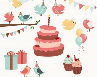 Birthday Birds Clipart. Birthday Clipart. Birds Clipart. Party Clipart. Birthday. 20 images, 300 dpi. Eps, Png files. Instant Download.