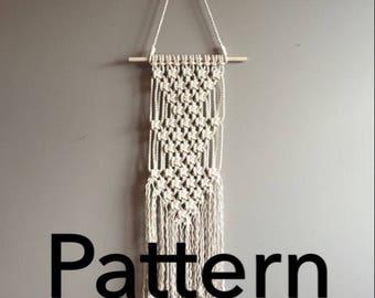 TRIPLE ARTEMIS Macramé Pattern Beginner//pdf DIY Wall Hanging Beginner Basic Instructions Macrame Fiber Arts Pattern Only