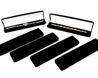 Black Flocked Watch/Bracelet/Pen Gift Boxes Package Of 6