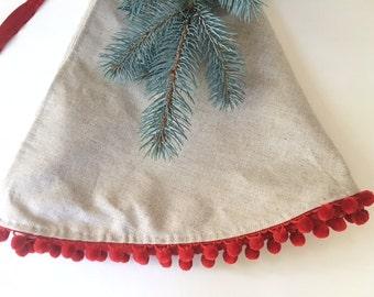 christmas tree skirts large christmas tree skirt 58 linencotton tree skirt - Small Christmas Tree Skirt