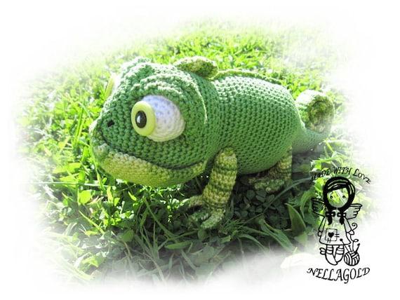 Crochet Pattern Toy Chameleon Amigurumi Lizard Gecko Diy