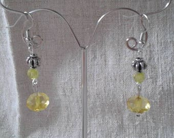 """yellow pearls duo"" earrings"
